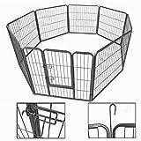 Welenauslauf 80x80 Ziigo Freigehege 8-Eck für Hunde Kaninchen stabile flexible Welpenzaun Laufstall faltbar erweiterbar Gehege für Garten und Wohnung