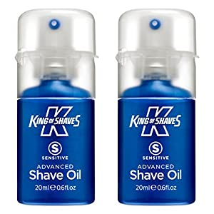King of Shaves Sensitive Advanced Shaving Oil, Handy Pump 20 ml - TWIN PACK