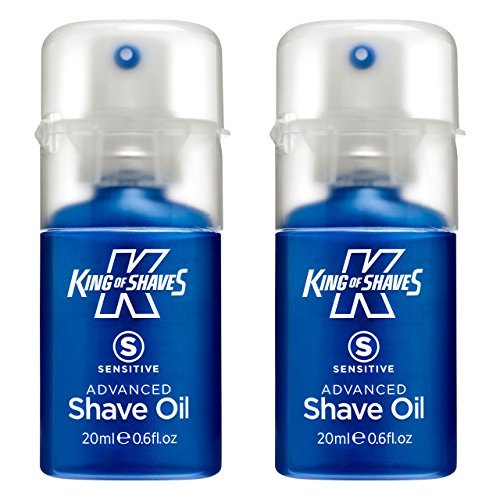 King of Shaves - Rasieröl Sensitive Advanced - für empfindliche Haut - 20 ml - Doppelpack