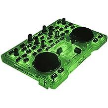 DJ Hercules DJ Control Glow - Consola DJ, color verde y negro  [2 Jog wheels + Effectos de luz]