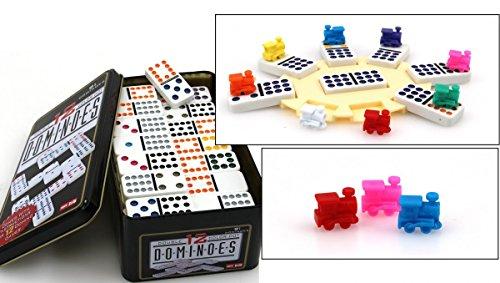 d. , Doppel 12 Domino mit Zugstation u. Loks, Trend Spiel ()