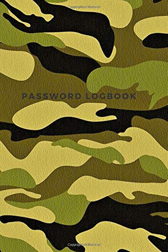 Password Logbook: Internet Passwords Organizer, Personal Logbook, Military Composition For Men And Boys (100 Personalized Tables Pages, 6