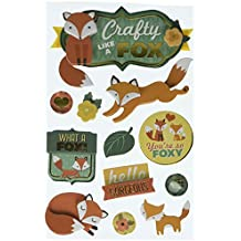 """Paper House 3D Stickers 4.5""""X8.5""""-Crafty Like A Fox"""