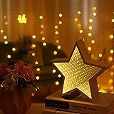 OUSENR Tischleuchte 3D Creative Cloud Sterne Süße Herzen Nachtlicht Led Tunnel Lampen Spiegelleuchte Für Kinder Baby Gutes Geschenk Dekoration, 01.