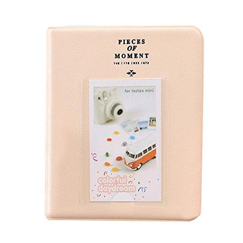 Vococal® 64 Bolsillos Mini álbum de Foto Libro para Fuji Fujifilm Instax Mini 7s 8 8+ 9 25 26 50s Polaroid PIC-300 Z2300 Snap Touch - (Blanco)