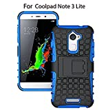 Heartly Coolpad Note 3 Lite Back Cover Kick Stand Spider Hard Dual Rugged Shock Proof Tough Hybrid Armor Bumper Back Case Cover ( 5 Inch )- Power Blue