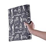Ammoon Partition de musique Score de stockage de fichiers de documents papier fichier support plastique Taille A440poches Package Schwarz-Musikinstrumente