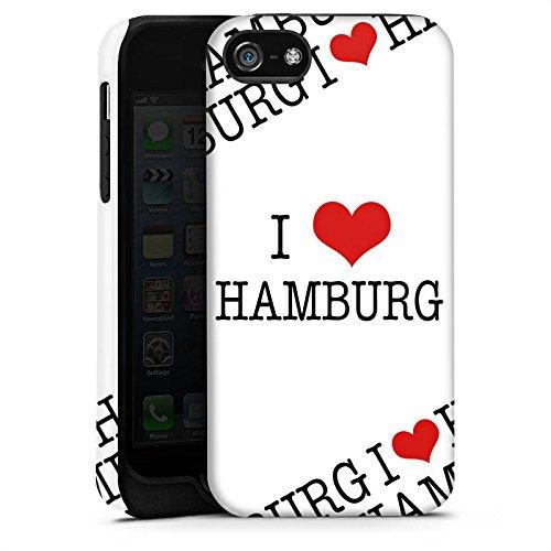Apple iPhone X Silikon Hülle Case Schutzhülle Hamburg Herz Love Tough Case matt