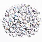 100 x bunt Glitzersteine Schmucksteine Acrylsteine Strasssteine Bastelsteine zum aufnähen