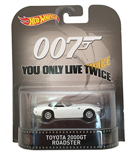 Toyota 2000GT Roadster James Bond 007 You Only Live Twice Hot Wheels 2015 Retro Series 1/64 Die Cast Vehicle by Hot Wheels