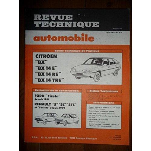 RTA0434 - REVUE TECHNIQUE AUTOMOBILE CITROEN BX, BX14E,BX14RE,BX14TRE