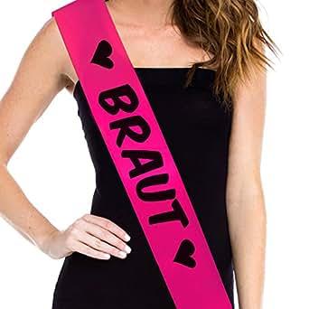 Braut JGA SchŠrpe Junggesellenabschie Hen Party Sash Bride to Be - Braut Comic pink