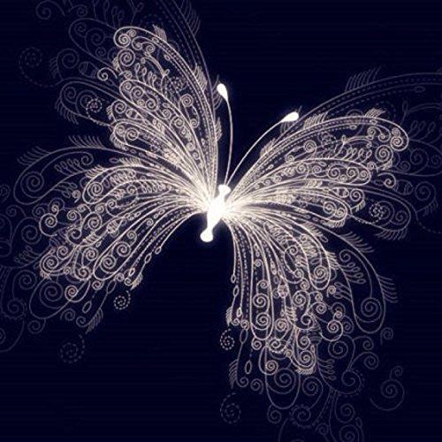 Yeesam Art - Cuadro para rellenar con piedras brillantes, mariposa de ensueño, producto para hacer tú mismo de 5Dy con un bordado de punto de cruz numerado.