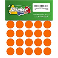 120 low 30 MM, orange, made from PVC film, Weather-Resistant, Adhesive circular stickers Stickers Dots / Circles