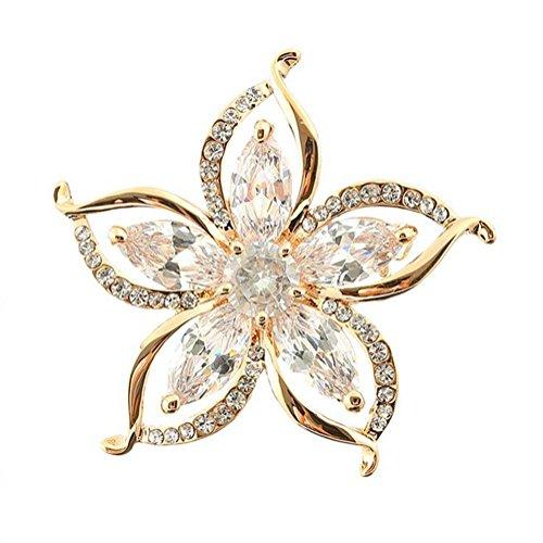 Hosaire Brosche Mode Perle Blütenform Zirkonia Broschen für Hochzeit Schmuck Zubehör Geburtstags Geschenk