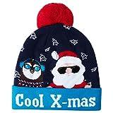 AIDEAONE Coole x-Mas weihnachtsmützen mit LED Leuchten hässliche Pullover Urlaub gestrickte Beanie Mütze
