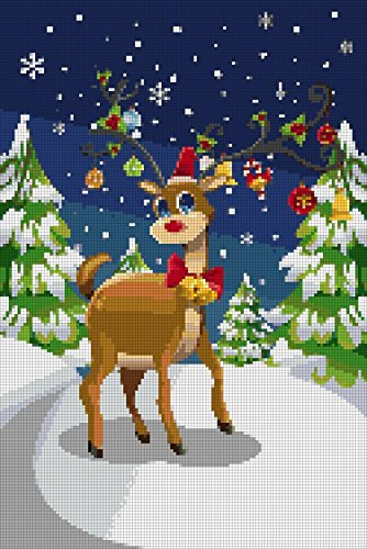 rudolph-the-red-nose-reindeer-cross-stitch-english-edition