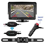 LeeKooLuu Wireless Backup Camera and Monitor Kit 9V-24V Rear View Camera Parking System For Car/Vehicle/Truck/Van/Camper WaterProof Night Vision with Guide Lines