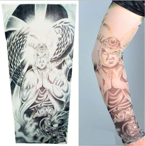 (Inception Pro Infinite W75 - Modell 13 - Tattoo Sleeve - Tragbar - Ärmel - Fake Tattoo - Bild - Krieger - Buddhist - Drache - Schlange - Tatoo - Half Sleeve - Tribal)