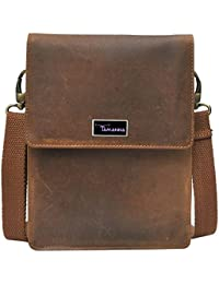 Tamanna Men & Women Casual Brown Genuine Leather Sling Bag