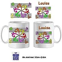 Texti-cadeaux-Mug Mandala-personnalisé avec un prénom exemple Louise