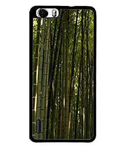 Fuson Designer Back Case Cover for Huawei Honor 6 Plus (Natural Bamboo Forest Homeplace Greenary Men Man)