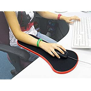 CPEX Desk And Chair Dual Purpose Attachable Home & Office Computer Arm Support - Ergonomically Designed Mouse Pad Arm-Stand Desk Extender