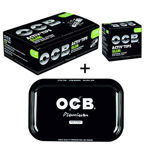 OCB Activ Tips Aktivkohle Filter 7mm 10x50 Stück inkl. Rolling Tray Gratis -