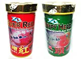 #2: Ocean Free Qian Hu Xo Humpy Head & Ever Red Flower Horn Fish Food 100g , Medium Large
