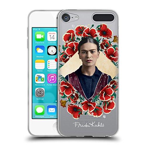 Head Case Designs Offizielle Frida Kahlo Mohnblume-Kranz Portrait 2 Soft Gel Hülle für Apple iPod Touch 6G 6th Gen (Soft Touch Kranz)
