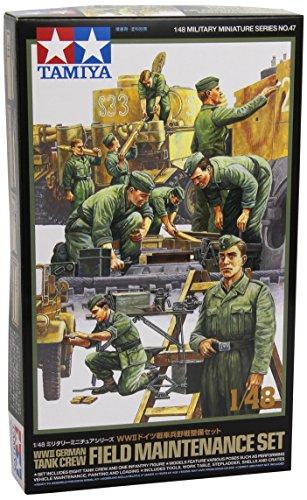 Tamiya 300032547 - 1:48 WWII Diorama-Set Feld-Instandsetz