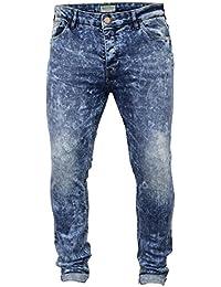 Hommes Jeans Brave Soul Coupe Slim Skinny Pantalon Rip Roulé Pants