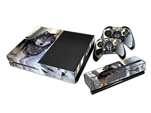 Xbox ONE Designfolie für Konsole + 2 Controller + Kamera Sticker Skin Set - Wolf (One Destiny Xbox Skin Controller)