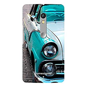 HomeSoGood Blue Classic Car Design 3D Mobile Case For Moto X Play (Back Cover)