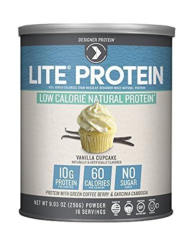 Designer Protein Natural Protein Lite Vanilla Cupcake - 15 Servings