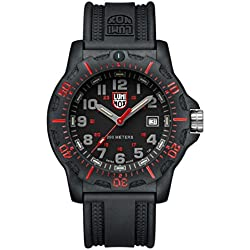 Luminox Black Ops 8880 series Watch with carbon compound Case Gray|Black|Red Dial and PU Black Strap XL.8895
