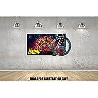 Infinity War Avengers Superheld Logo personalisierte Namen Wandtattoo Kinder Jungen Mädchen Wand Aufkleber Wand Kunst Transfer Aufkleber