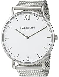 Paul Hewitt Unisex-Armbanduhr Analog Quarz Edelstahl PH-SA-S-St-W-4S