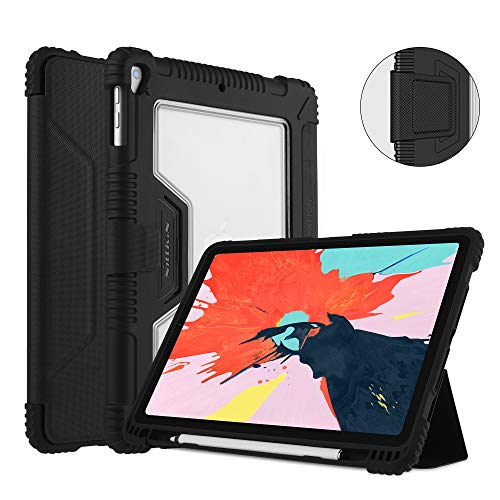 Nillkin Funda para iPad Pro 11 Pulgadas 2018, Funda Protectora de Parachoques a Prueba de Golpes de Cuerpo Completo, activación/suspensión automática y Protector de Pantalla Super Clear Gratuito