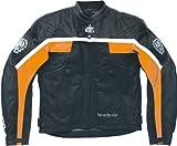 ARLEN NESS LJ-3178-AN Lederjacke schwarz/orange/weiss 52