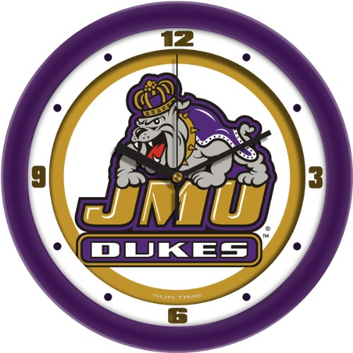SunTime NCAA James Madison Dukes Traditionelle Wanduhr