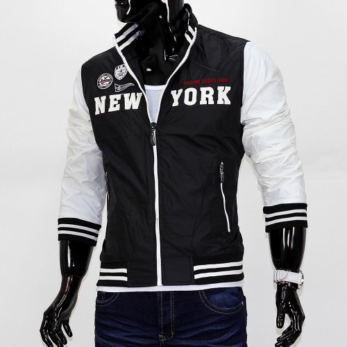 Herren Jacke Windbreaker New York ID685 040-Schwarz