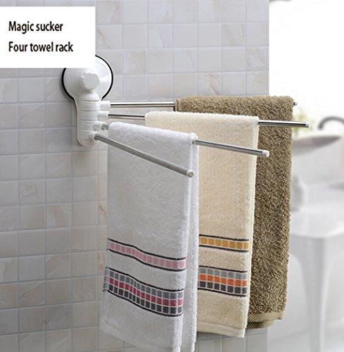 Wysm toallero wysm Creativo de Acero Inoxidable Toalla de Bastidor de  Rotación de la Varilla de 8e664360234f