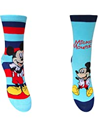 Infantil Disney Mickey Mouse Calcetines Con Personaje (paquete 2 Pares)