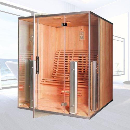 """Infrarotkabine """"Argos II"""" Infrarot Sauna für 3 Personen Wärmekabine Infrarotsauna"""