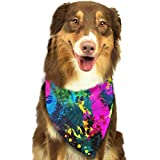 Color Splash Pet Dog Cat Bandanas Triangle Bibs Pet Scarf Dog Neckerchief Headkerchief Pet Accessories