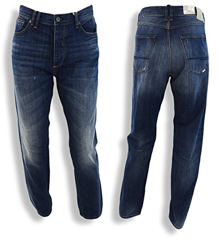 Bench Jeans Transistor V3, carrot Twisted Long Rise, Blu Blau 32 W/32 L