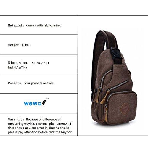 Wewod , Borsa Messenger  Donna Uomo, marrone (Marrone) - JX-xb-1207 marrone