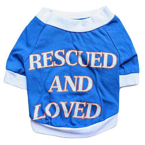 PZSSXDZW Pet Kleidung Hund Kleidung Baumwolljersey Tuch blau mittleren und großen Hund mitfühlend Großhandel Frühjahr und ()