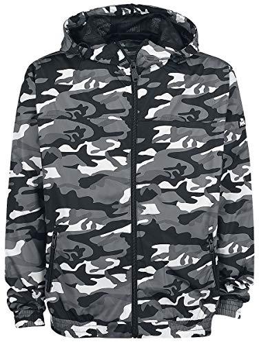 Lonsdale London Herren COUNTON Windbreaker Jacket, Camo Grey, L